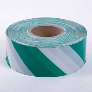 Blue and White Barrier Tape