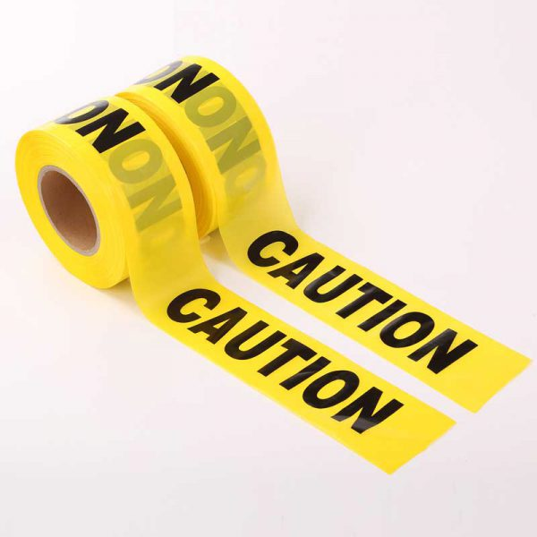 Non Adhesive Black and Yellow Caution Tape