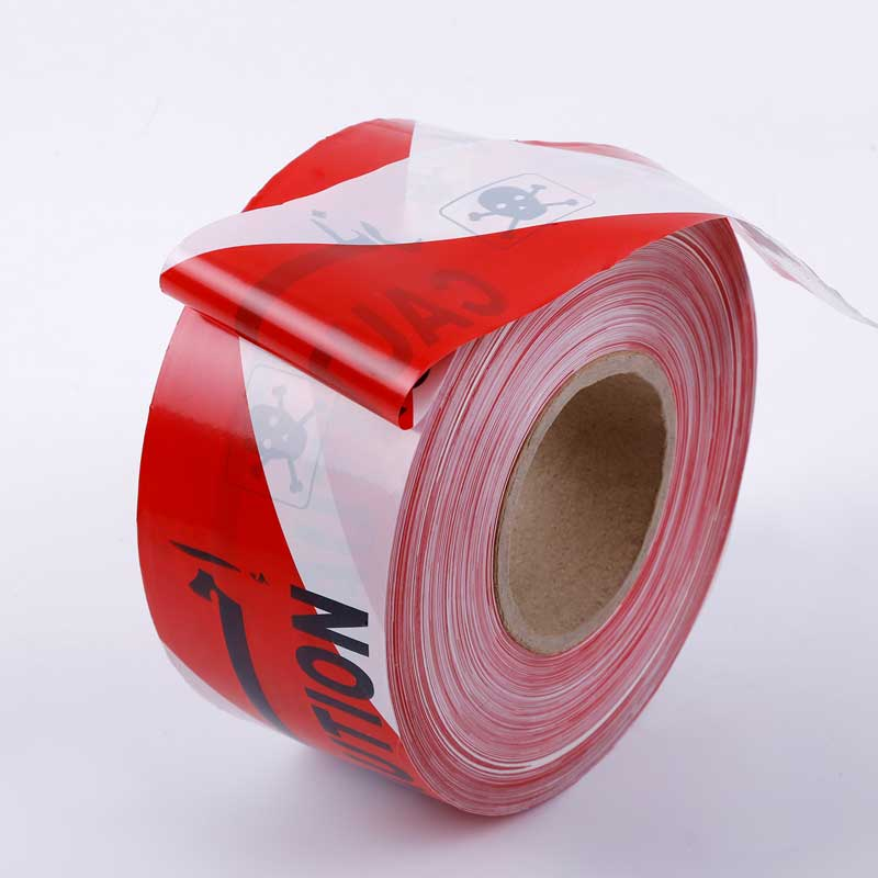 Red & White Barrier Tape Non Adhesive
