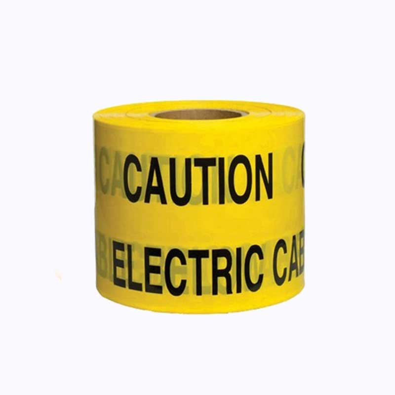 Buried electrical cable warning tape