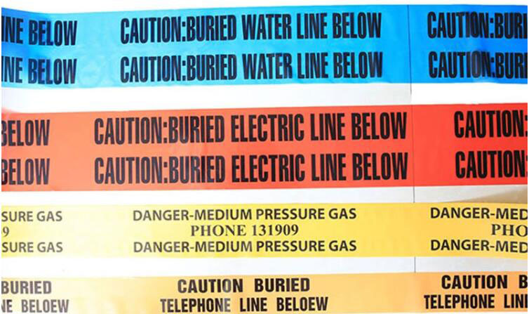 Buried Oil and Gas Pipeline Warning Tape
